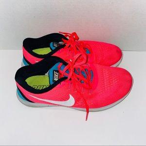 Nike Free Running Shoes Hot Pink Racer Blue Flex